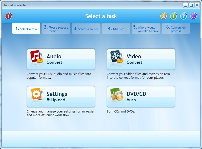 Click to view Format Converter 3.1.10.0209 screenshot